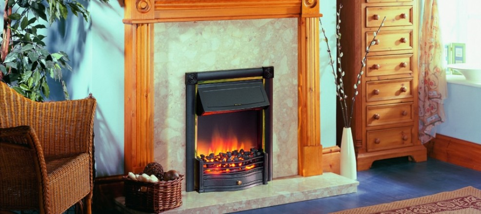 Horton Optiflame inset fire in Black